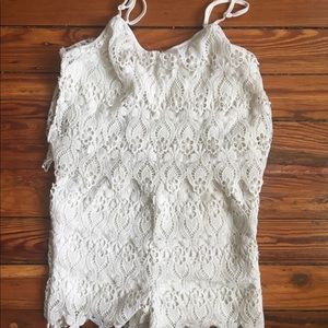 Other - Floral lace romper